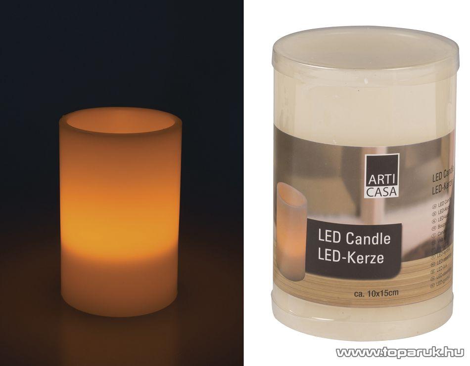 ARTI CASA EDC 4288 Beltéri LED-es, elemes viaszgyertya, 10 x 15 cm