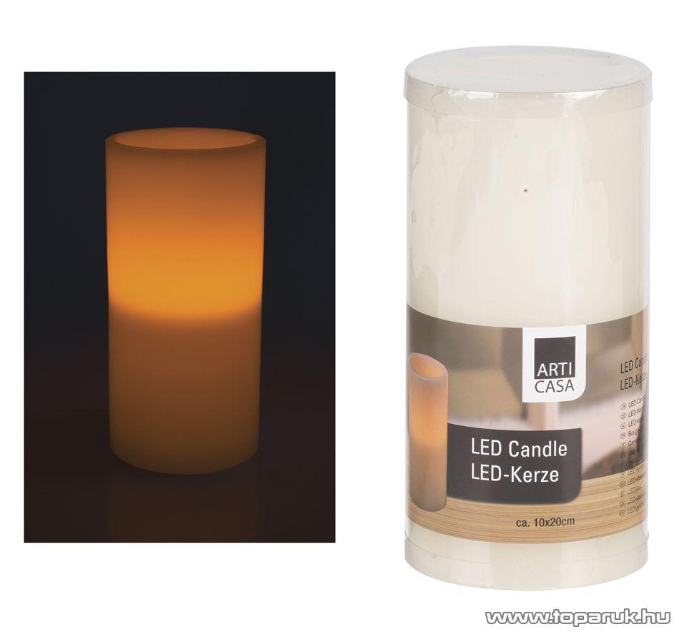 ARTI CASA EDC 4289 Beltéri LED-es, elemes viaszgyertya, 10 x 20 cm