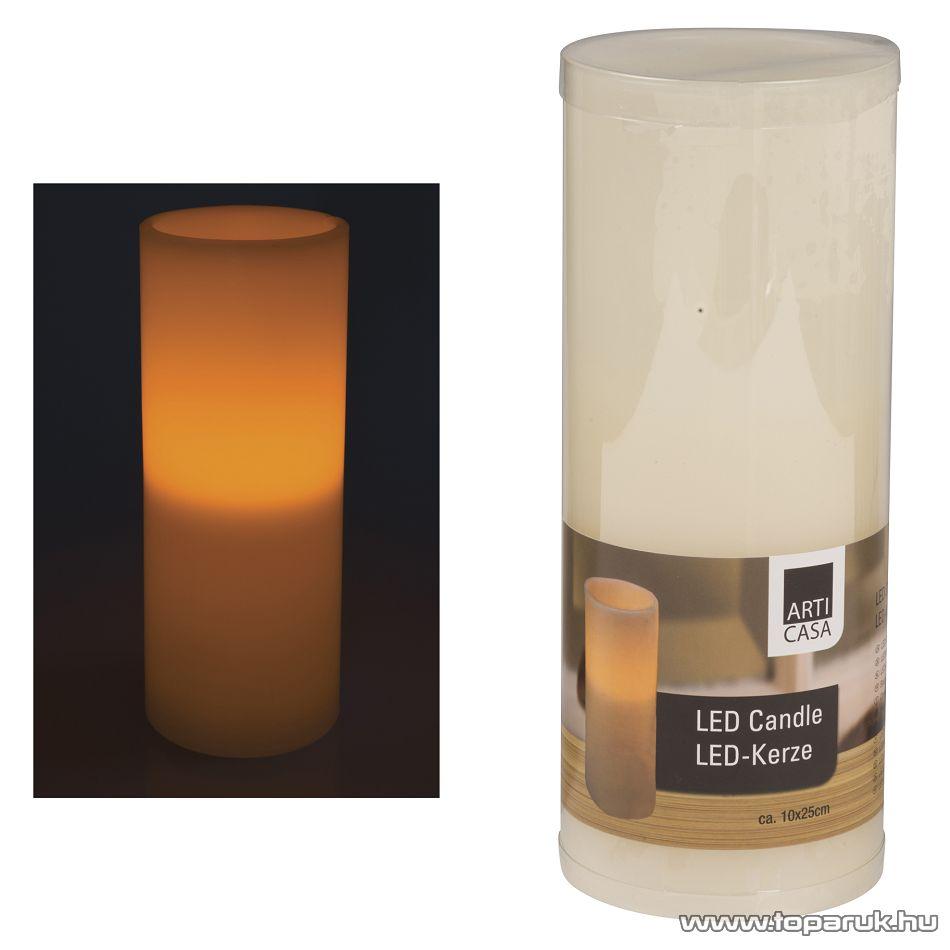 ARTI CASA EDC 4290 Beltéri LED-es, elemes viaszgyertya, 10 x 25 cm