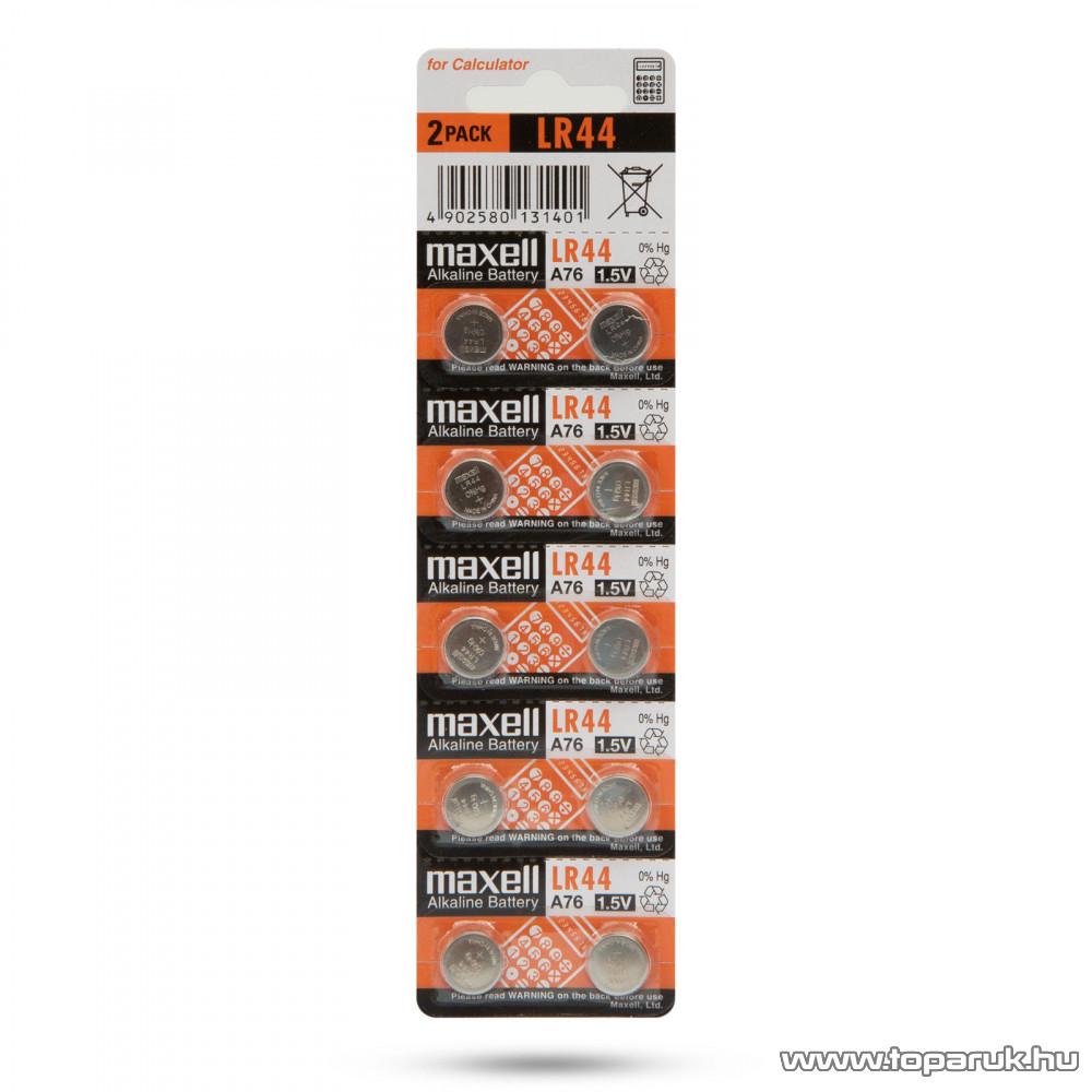 AgfaPhoto AF AG13 1,5V-os gombelem, alkáli LR44, 10 db / csomag