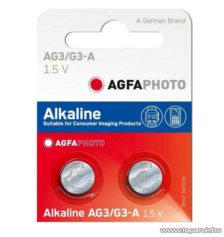 AgfaPhoto AG3 1,5V-os gombelem, alkáli LR41, 10 db / csomag