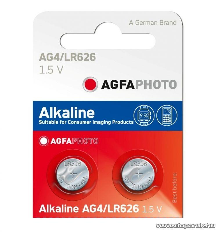 AgfaPhoto AG4 1,5V-os gombelem, alkáli LR66, 10 db / csomag