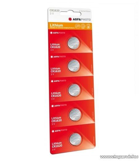 AgfaPhoto CR1620 gombelem, 3V, lítium, 5 db / csomag