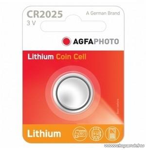 AgfaPhoto AF CR2025 gombelem, 3V, lítium, 1 db