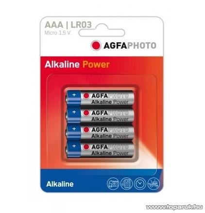 AgfaPhoto AF LR03 AAA elem, alkáli, 4 db / csomag