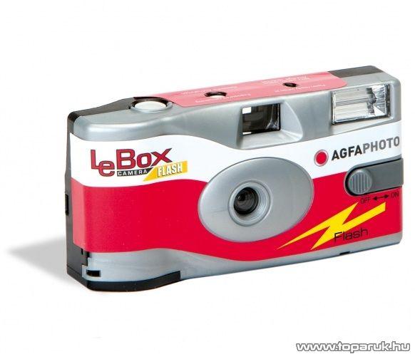 AgfaPhoto AF LeboxF Egyszerhasználatos fényképező vakuval - megszűnt termék: 2016. szeptember