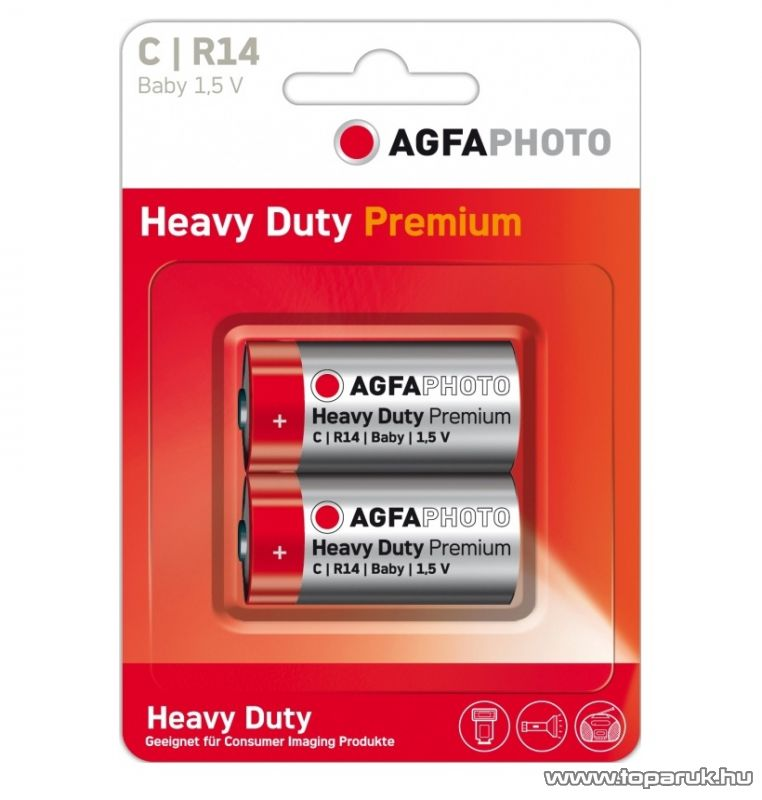 AgfaPhoto AF R14 C elem, féltartós, 2 db / csomag