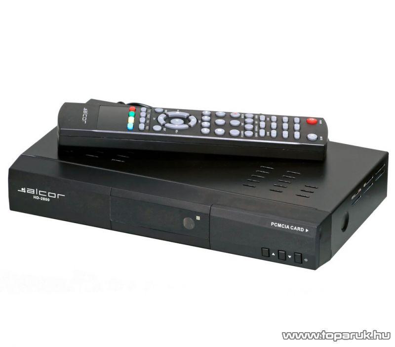 Alcor HD 2800 DVB-T vevőegység Conax 7.0 kártyaolvasóval - megszűnt termék: 2015. július