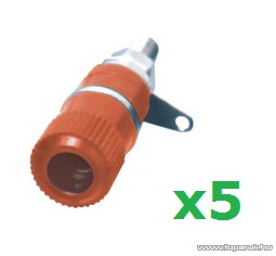 USE BA 2/RD Banán aljzat, beépíthető, műanyag ház, piros, 5 db / csomag