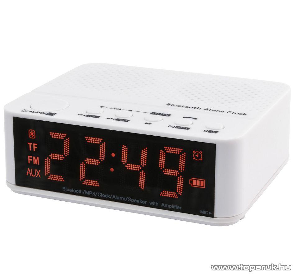 SAL BTCL 400 Bleutooth hordozható multimédia lejátszó és ébresztőóra, 6 in 1, fehér
