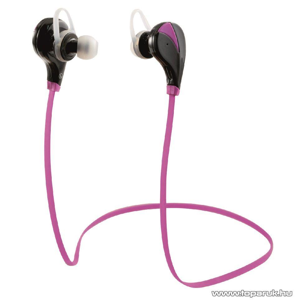 SAL BTEP 1000/PI Beépített akkumulátoros vezeték nélküli bluetooth sport 4 in 1 fülhallgató (headset), rózsaszín (pink) - megszűnt termék: 2017. január