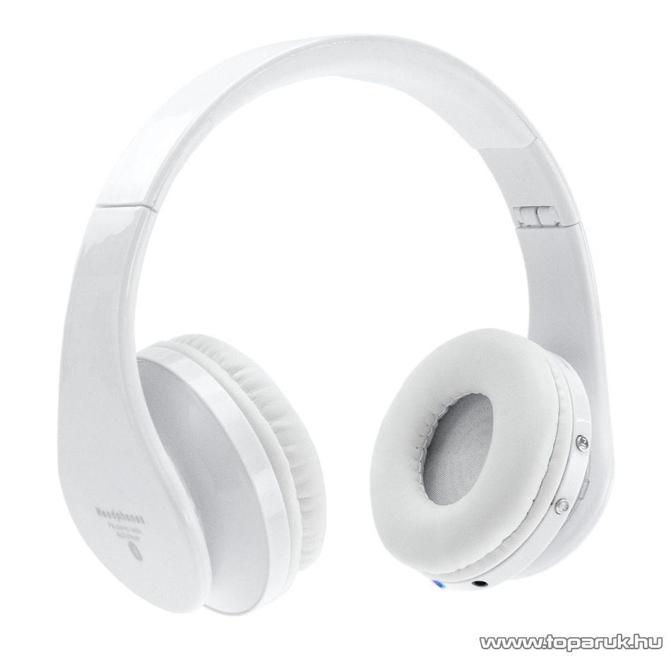 SAL BTHP 3000 Beépített akkumulátoros vezeték nélküli bluetooth 5 in 1 fejhallgató (headset), fehér