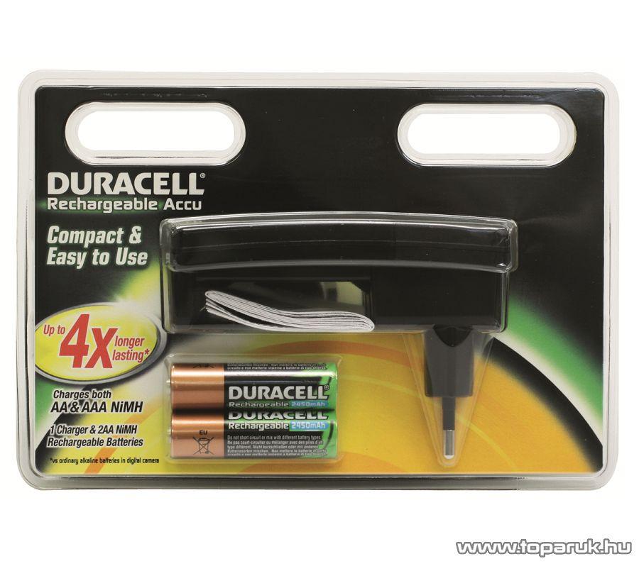 Duracell AF CEF24 Akkumulátortöltő + 2 db 2450 mAh akkumulátor - megszűnt termék: 2016. február