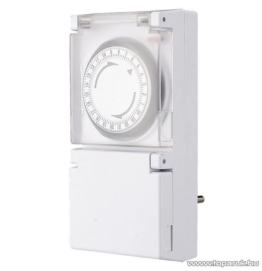 GAO  0742H Mechanikus kültéri napi időzítő óra (kapcsolóóra), fehér - megszűnt termék: 2016. március