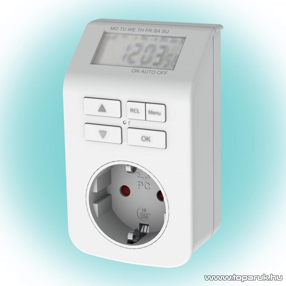 GAO 0743h Digitális beltéri, heti időzítő óra, fehér