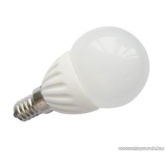 GAO 6968H LED fényforrás, 4 W, 3000K, 10 SMD LED, E14, P45, melegfehér