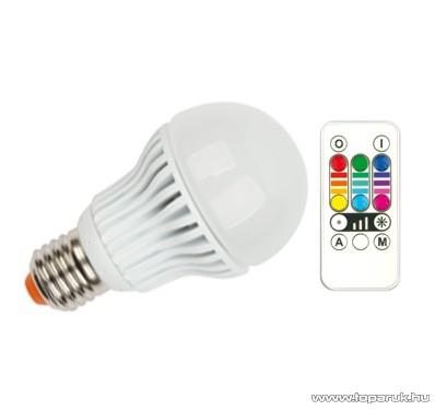 GAO 7005H Színváltós, távirányítós LED fényforrás, E27 foglalat