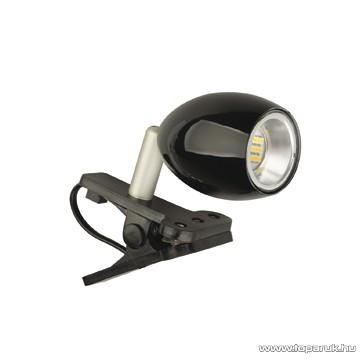 GAO 7009H Beépített 18 db LED-es csíptetős spot, fekete