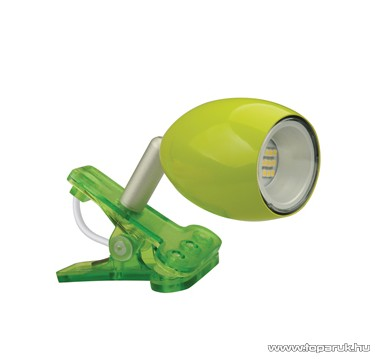 GAO 7014H Beépített 18 db LED-es csíptetős spot, zöld