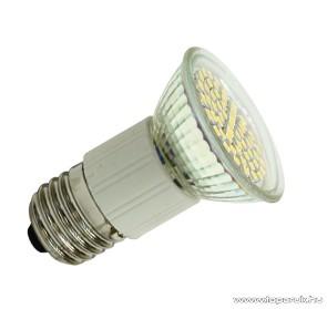 GAO 7037H LED fényforrás előtétüveggel, spot, 60 SMD LED / 3 W / 220 lm / 3000 K, E27