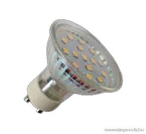 GAO 7072H LED fényforrás, energiatakarékos égő, 3W, 3000K, meleg fehér, spot, GU10 foglalat