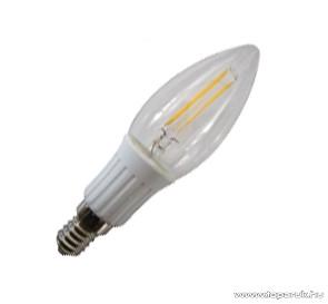 GAO 7088H LED fényforrás, energiatakarékos égő, 2W, 3000K, meleg fehér, gyertya, E14 foglalat