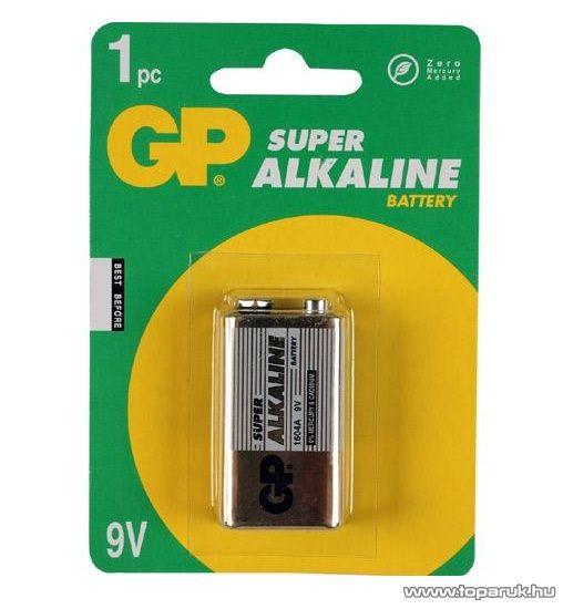 GP 6LR61 - 9 V elem, alkáli