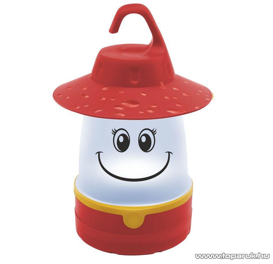 HOME CL 7L/RD Elemes gyermek LED-es kempinglámpa, piros