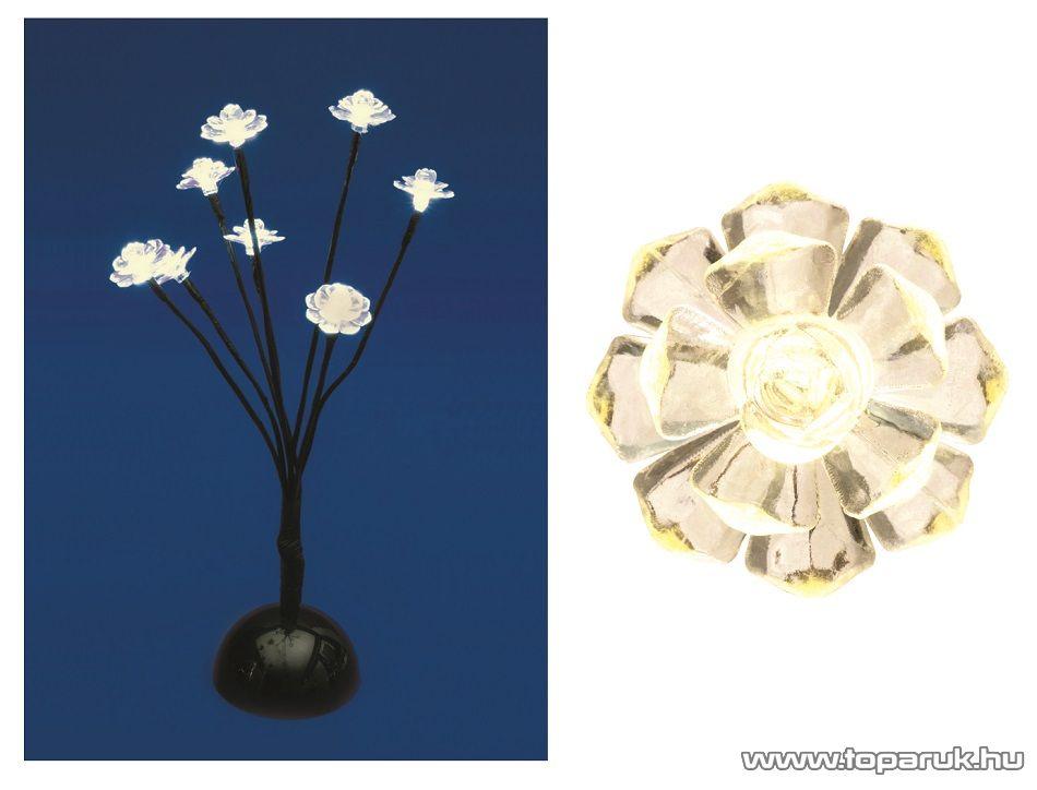 HOME KAD 17 Beltéri LED-es asztali fa dekoráció, 8 db melegfehér fényű leddel