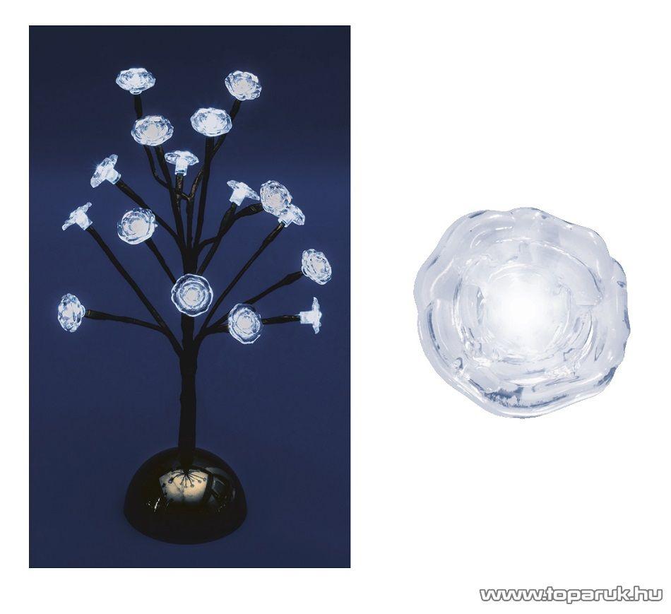 HOME KAD 18 Beltéri LED-es asztali fa dekoráció, 16 db gideg fehér fényű leddel