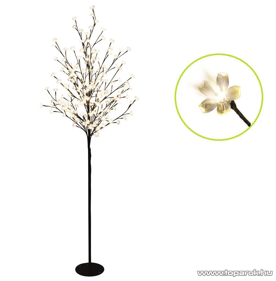 HOME CBT 200 Kültéri LED-es virágzó cseresznyefa dekoráció, 200 db meleg fehér fényű leddel