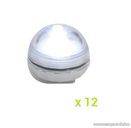 HOME CDF 1/WH Kültéri 1 LED-es, elemes, vízálló mécses szett, hideg fehér világítással, 12 db / szett
