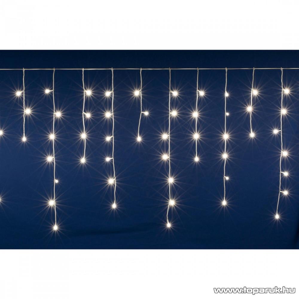 HOME DLFJ 200/WW Kültéri toldható állófényű 200 LED-es party jégcsap füzér, fényfüggöny, meleg fehér világítással, 5 m hosszú