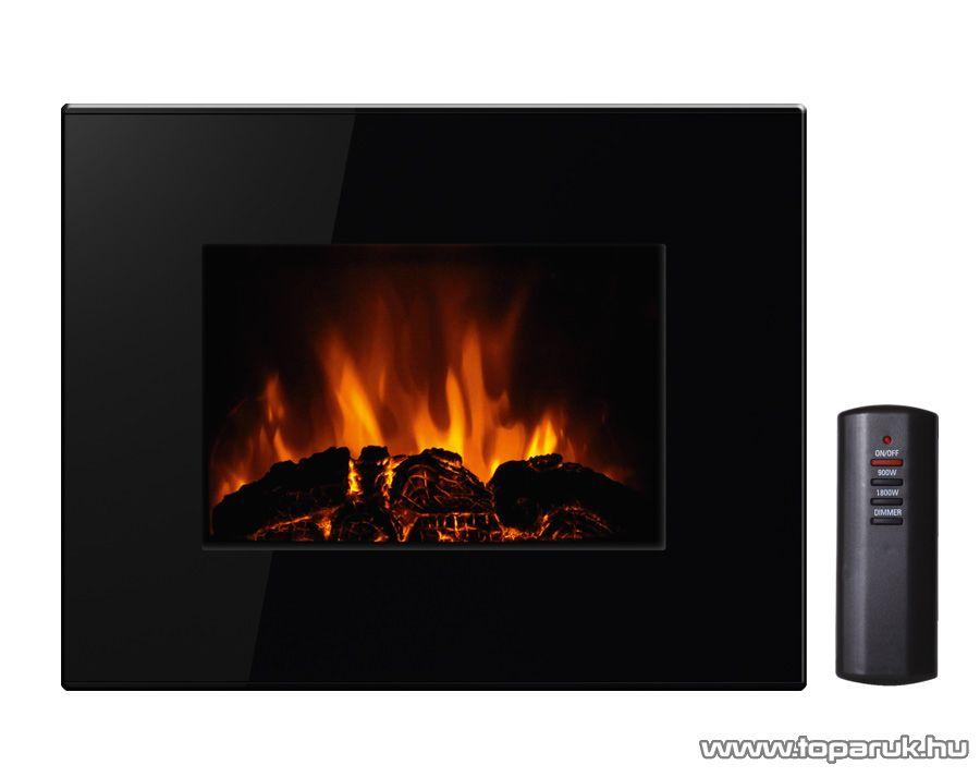 HOME FKK 03 Elektromos fali kandalló, 1800 W, fekete
