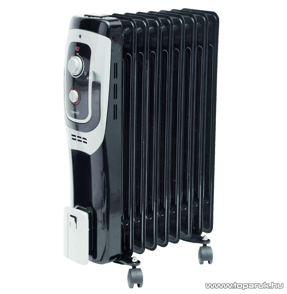 HOME FKO 9/BK Olajradiátor, termosztát szabályozással, 9 tag, fekete, 2000 W