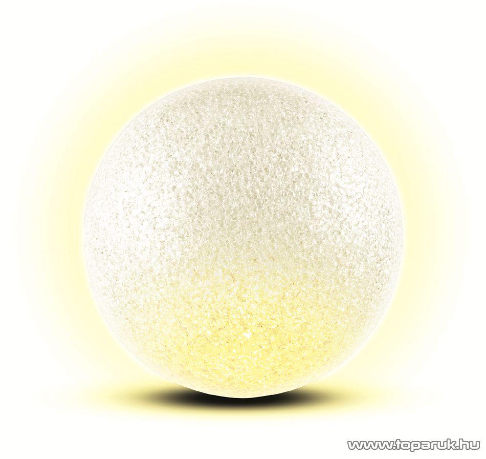HOME GLE 12/WW Beltéri 1 LED-es, elemes világító EVA gömb dekoráció, 12 cm, meleg fehér