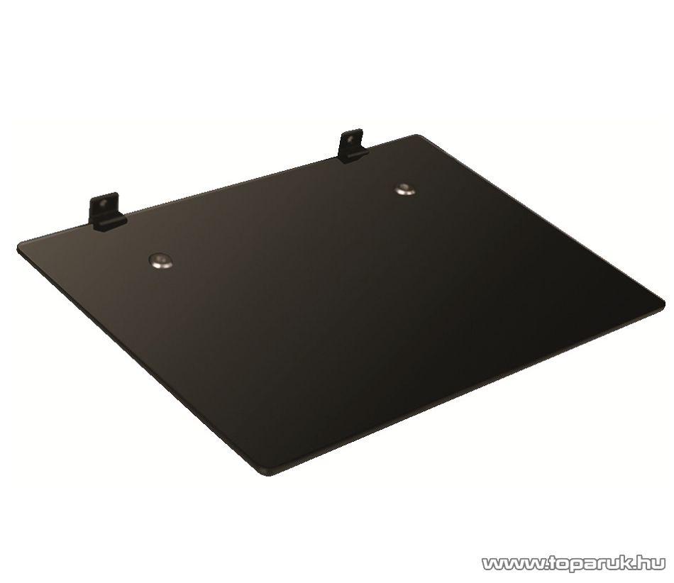 HOME GSH 021 Elegáns fali üvegpolc, 35 x 25 cm, 10 kg-ig terhelhető