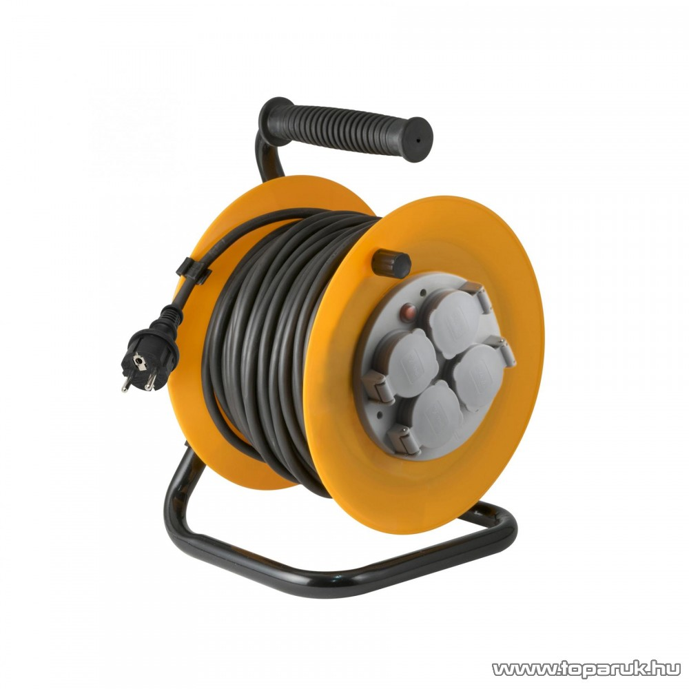 HOME HJR 10-25/1,0 Kábeldob, 25 m gumírozott vezetékkel