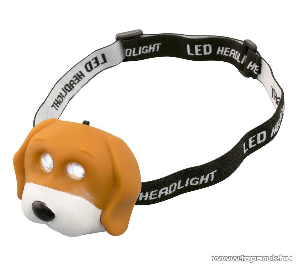 HOME HLP 2 D Nagy fényerejű hidegfehér DIP LED-es fejlámpa, kutya