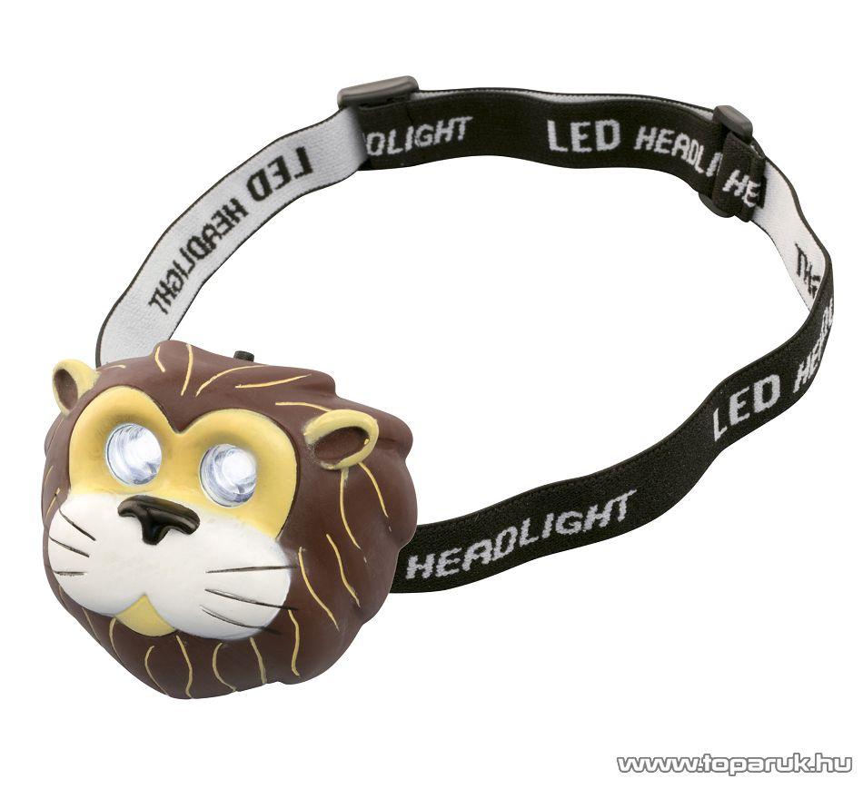 HOME HLP 2 D Nagy fényerejű hidegfehér DIP LED-es fejlámpa, oroszlán
