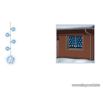 HOME KAF 520 Kültéri Csillag díszes fényfüggöny, 100 izzó, fehér - készlethiány!