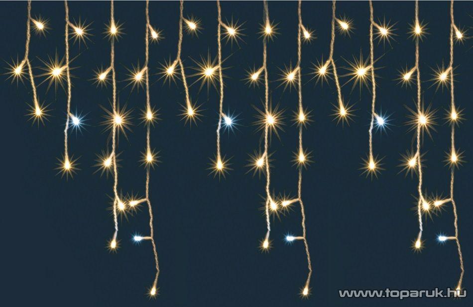 HOME KAF 600L 10M Kültéri LED-es sziporkázó fényfüggöny, 600 db LED-del, 8 programos, memóriás, 10 méter széles