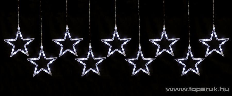 HOME KAF 9/5L Beltéri LED-es csillag fényfüzér, 9 db 9 cm-es csillag, hidegfehér