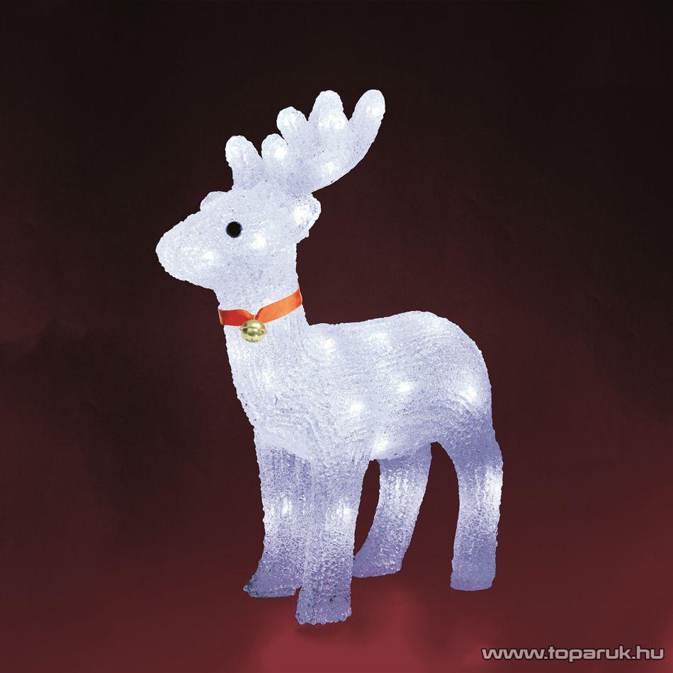 HOME KDA 2 Kültéri LED-es akril rénszarvas dekoráció, 40 db hideg fehér fénnyel világító leddel - készlethiány