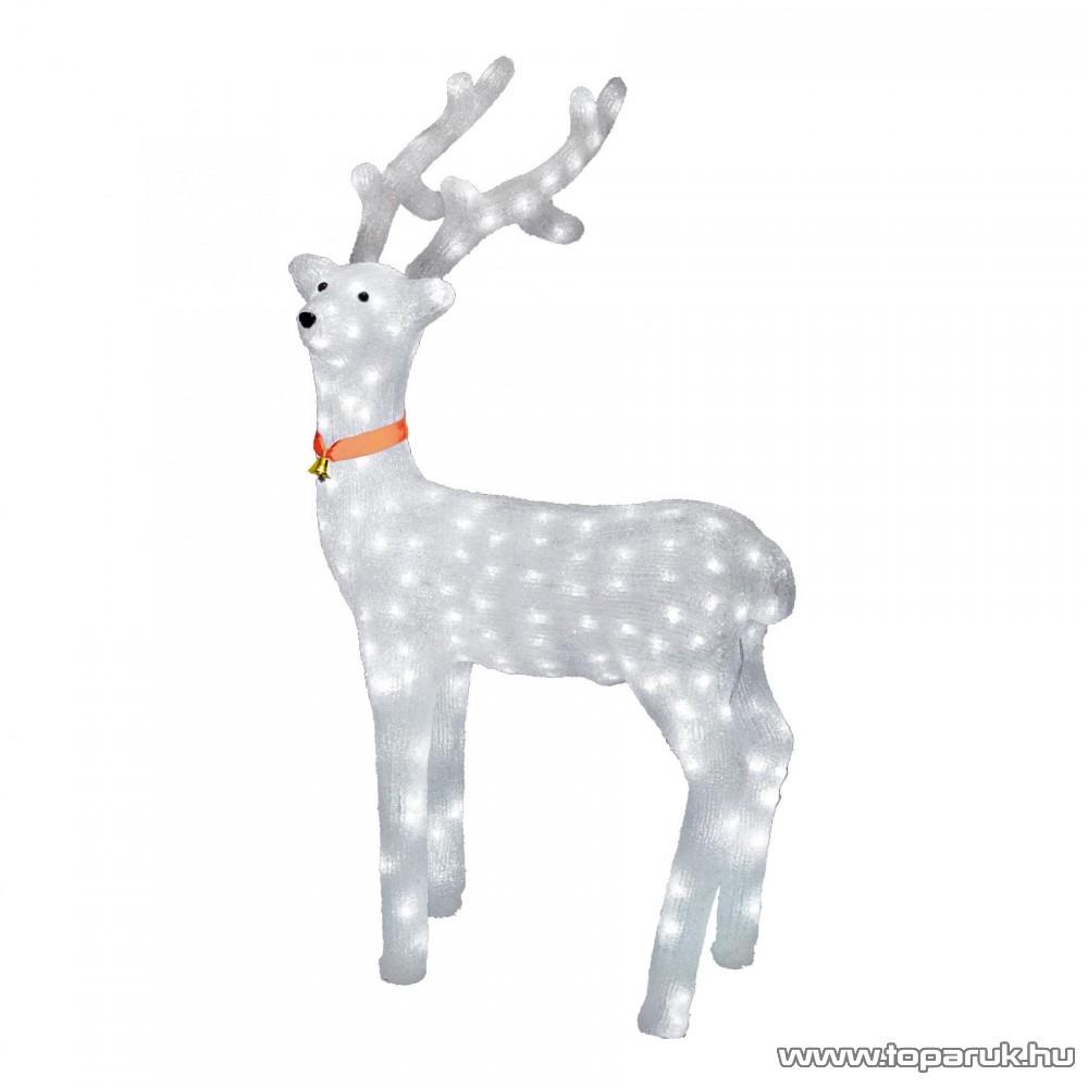 HOME KDA 5 Kültéri LED-es akril nagy rénszarvas dekoráció, 240 db hideg fehér fénnyel világító leddel