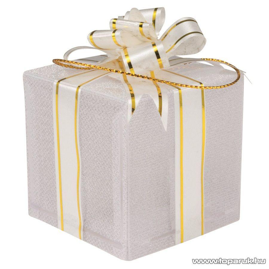 HOME KDB 5 Beltéri világító ajándékdoboz dekoráció, 5 x 5 x 5 cm-es, 1 db színváltó leddel