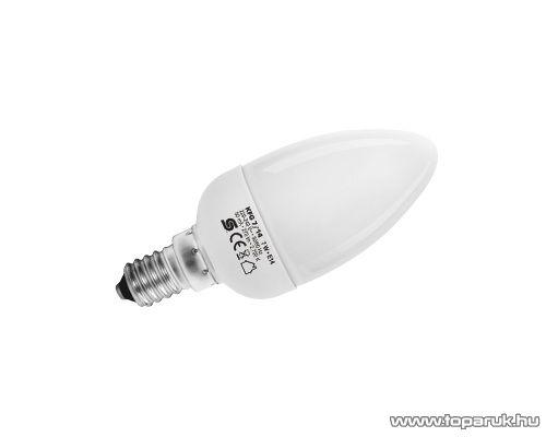 HOME KFG 7/14 Kompakt fénycső, gyertya, 7 W, E 14 / mini, 2700 K