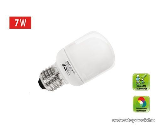 HOME KFHC 7/27M Kompakt fénycső, henger, 7 W, E 27 / mini, 2700 K