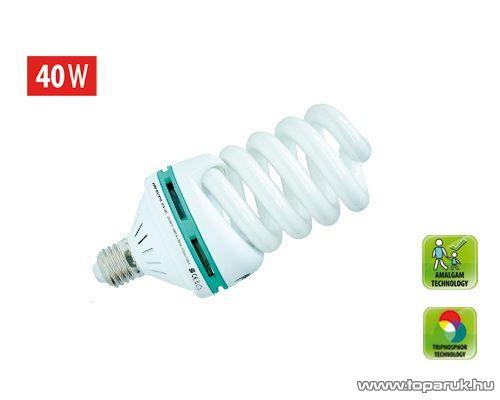 HOME KFM 40/27H Kompakt fénycső, maxi spirál, 40 W, E 27, 4200 K (hideg fehér)