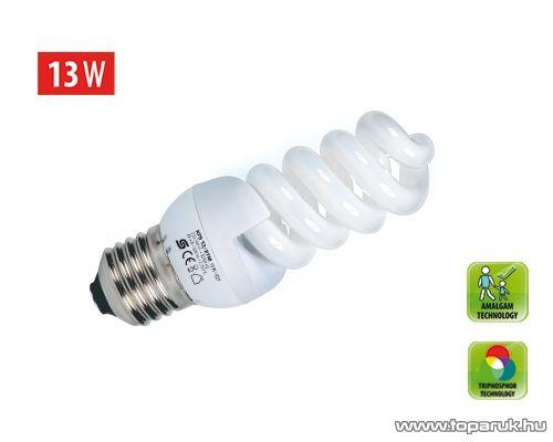 HOME KFS 13/27M Kompakt fénycső, spirál, 13 W, E 27, 2700 K